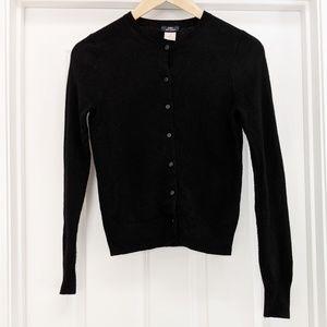 J. Crew 100% cashmere black cardigan